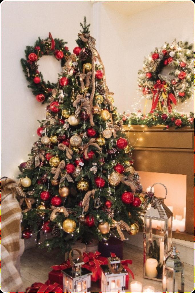 Набор  рождественских декораций